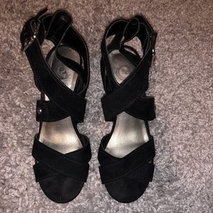 G by Guess black wedges